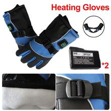 Buy Winter Electric Gloves Waterproof USB Electric Motorcycle Heating Gloves 3000mAh Lithium Battery Power For Motorcycle Ski Gloves directly from merchant!