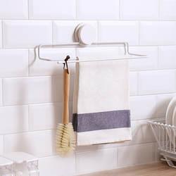 NC пробивка отверстий Полотенца шкаф ванная, туалет, кухня настенная вешалка для кухонных полотенец, без швов, волшебная палочка 2-х
