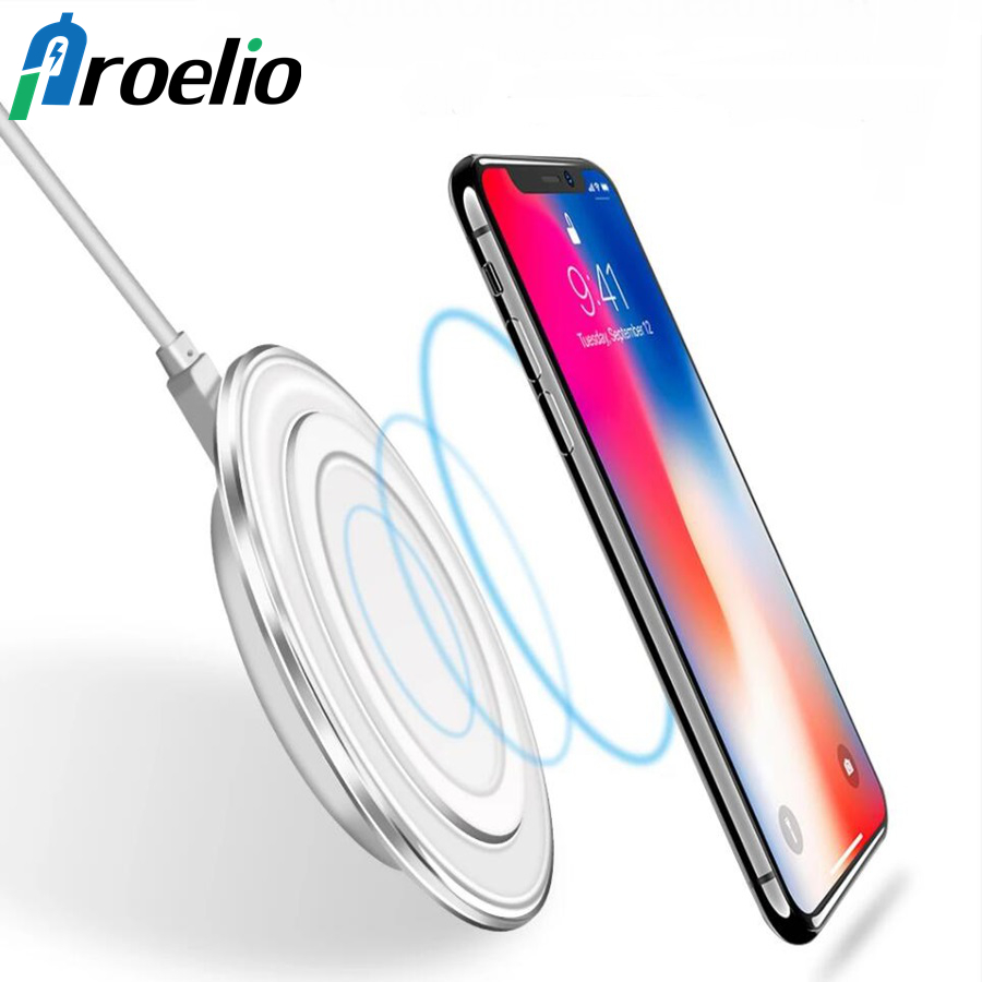 Proelio Qi Wireless Phone Charge Charger For Xiaomi Redmi Note 7 For iPhone 7 8 Plus X Portable Wireless Charger For Samsung S10