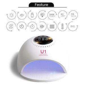 Image 4 - 84 Вт лампа для ногтей, быстро сохнут, canni Светодиодный УФ лампа для сушки лака 30s/60s/120s лампы для ногтей для био Гели Soak Off УФ светодиодная лампа для сушки ногтей
