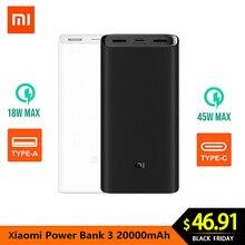 Xiao mi power Bank 3 20000 мАч Pro 45 Вт PD быстрое зарядное устройство для ноутбука mi power Bank PLM07ZM с тройным выходом USB USB-C 45 Вт 20000 мАч