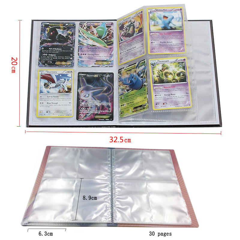 Takara Tomy Pokemon Card 240pcs Holder Album Toys For Children Collection Album Book Playing Trading Game Go