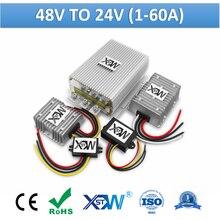 Dc para dc 48 v a 24 v 1a a 60a conversor de potência de comutação step down 48 volts ao transformador de tensão do caminhão do regulador do fanfarrão de 24 volts