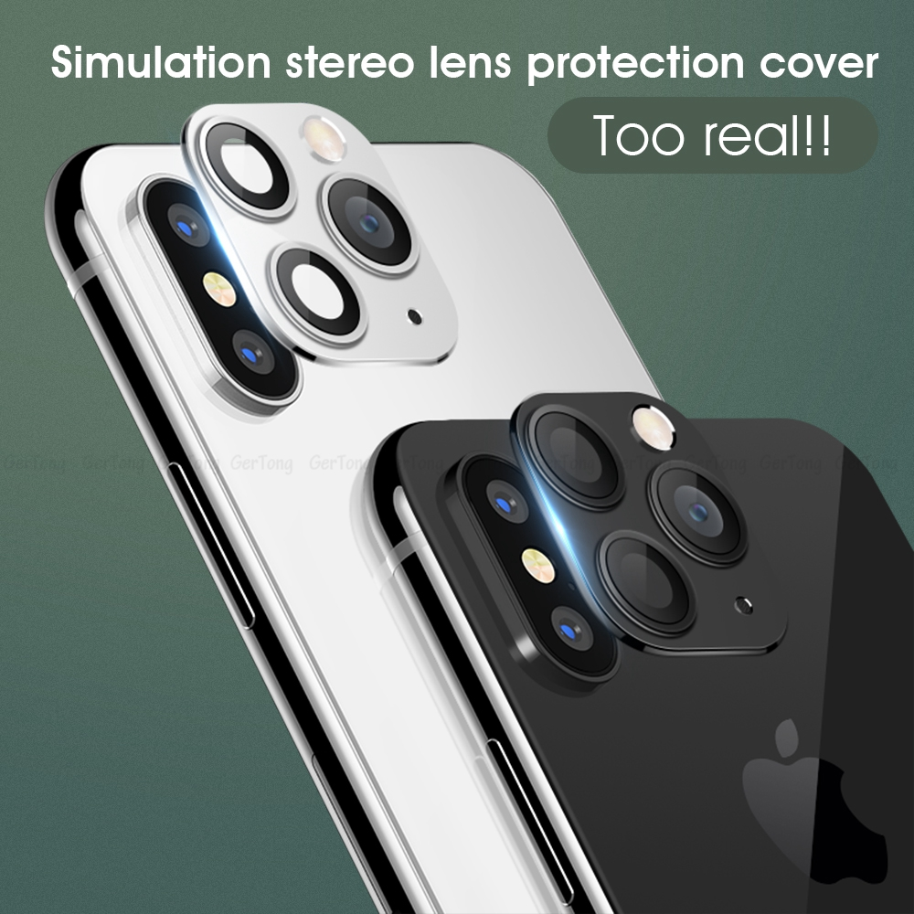 H8a22b653dc174bac9c2b9c094cbd0145W - 3D Alumium Camera Lens Seconds Change for iPhone 11 Pro Max Lens Ring Cover Sticker For iPhone X R XS MAX Rear Protective Cover