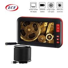 F200 HD1080P 8 мм Объектив экран инспекционная эндоскоп камера Водонепроницаемый Бороскоп 4,3 дюймов HD TFT ips экран камера автомобильный монитор