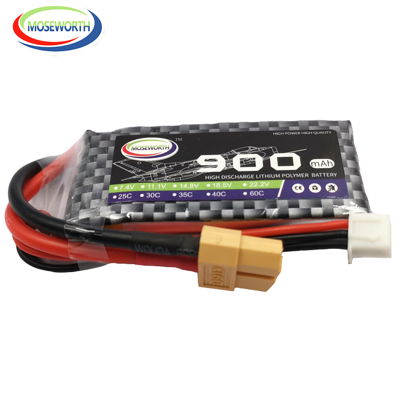 2PCS/Pack <font><b>RC</b></font> LiPo <font><b>Battery</b></font> 2S <font><b>7.4V</b></font> <font><b>900mAh</b></font> 30C For <font><b>RC</b></font> Airplane Drone Helicopter Quadrotor Car <font><b>RC</b></font> <font><b>Batteries</b></font> LiPo <font><b>7.4V</b></font> XT60/T Plug image