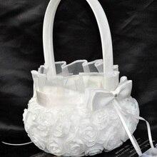 Стиль, кружевная Свадебная Цветочная корзина, украшение с бантом, западный стиль, свадебная опора, цветочная корзина, вышитые свадебные декорации