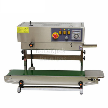 FR-770 Vertical BateRpak Continuous band sealer,stainless steel heat sealing machine(220V/50Hz)Plastic bag Welders baterpak fkr 200a 300a 400a hand held impulse sealer ldpe plastic bag sealer kraft paper bag heat sealing machine