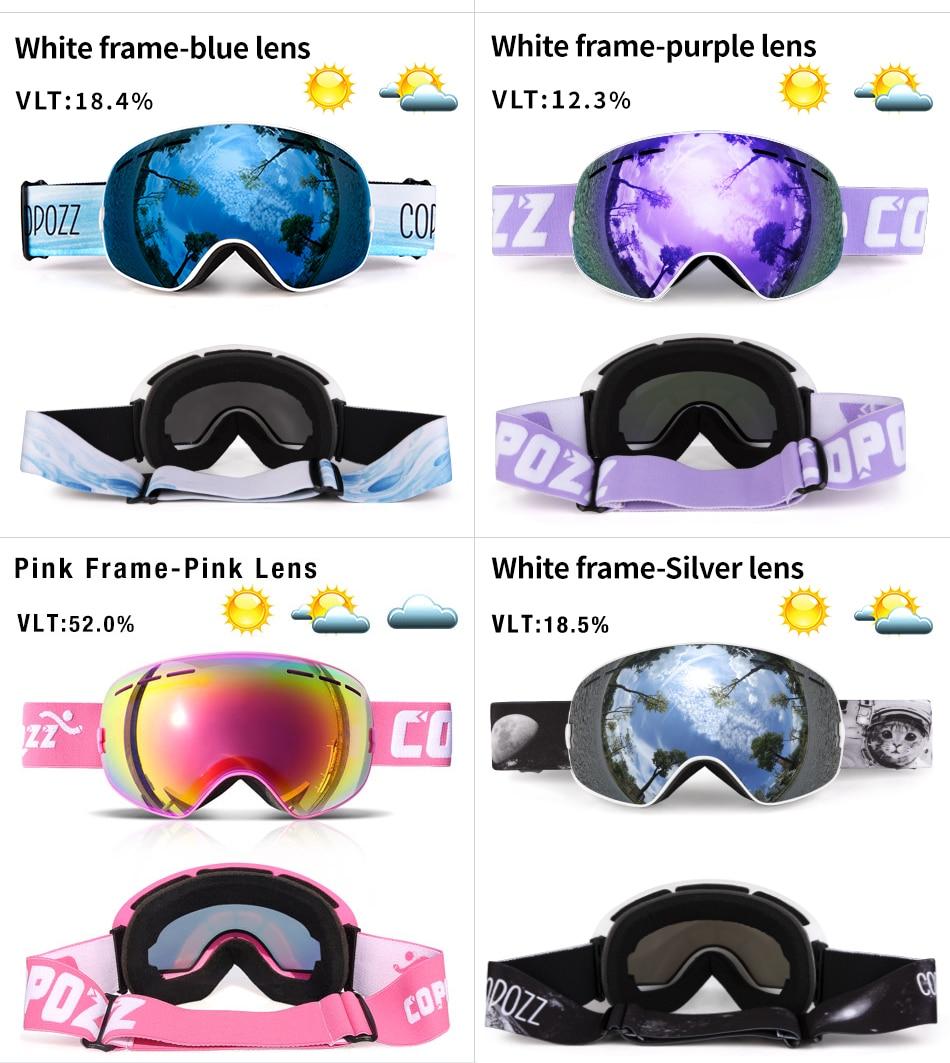 H8a2317525b764cb582aa6b6b243cc68bJ - Ski Goggles Men Women Snowboard Goggles Glasses for Skiing UV400 Protection Skiing Snow Glasses Anti-Fog Ski Mask