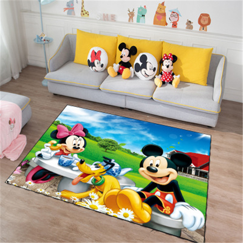 Cartoon Playmat Kitchen Door Mat Kids Boys Girls Game Mat Mickey And Minnie  Carpet  Bedroom  Carpet Indoor Bathroom Mat