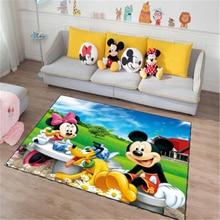 Mickey and Minnie Mouse  Door Mat Kids Boys Girls Game Mat Carpet  Bedroom Kitchen Carpet Indoor Bathroom Mat
