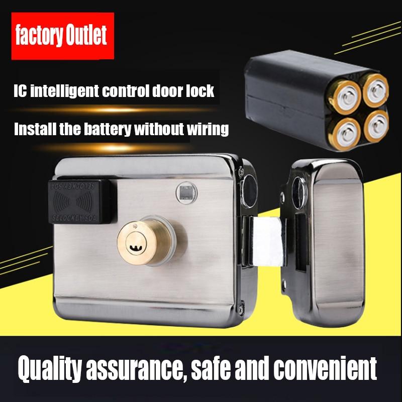 Support Video Doorbell Mobile APP Electronic Lock RFID Reader Smart Remote Control IC Card Label Door Lock Castle Door Lock