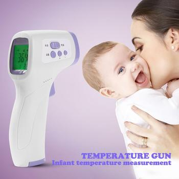 Baby Adult Forehead infrared digital thermometer Non-contact Handheld  Infrared Portable Body Thermometer with LCD Backlight