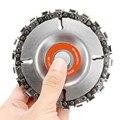 Станок диска 4 дюйма резьба по дереву дисковый дюймов угол Резьба Culpting дробилка древесины цепи для 100/115 мм угловый шлифовальник 22 зуб