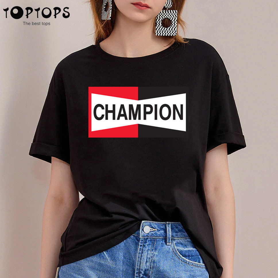 Women's New Once Upon A Time In Hollywood Print T-shirts Brad Pitt Champion Auto Graphic Tees Women Casual O-neck Tops Tshirt