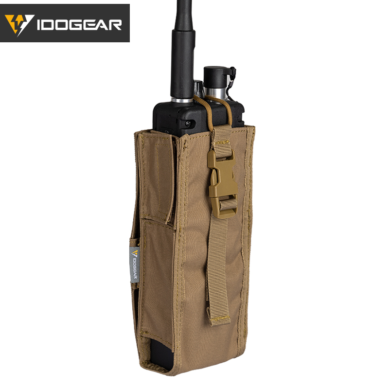 IDOGEAR Tactical Radio Pouch For Walkie Talkie Holder MOLLE MBITR TRI PRC-148 PRC152 Outdoor Sports Molle Tool Pouch 3553