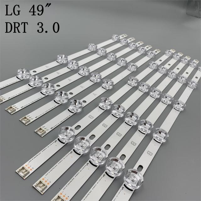 New 10 PCS/set LED backlgith strip Replacement for LG 49LB5500 LC490DUE Innotek DRT 3.0 49 A B 6916L 1788A 1789A 1944A 1945A