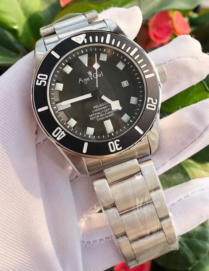 Luxury Brand New Men Automatic Mechanical Watch Silver Black Bay Blue Green Ceramic Bezel Stainless Steel Sapphire Diver 43mm