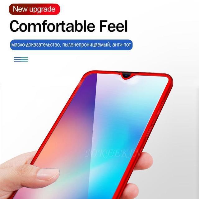 360 coque de protection complète pour Huawei Y9S Y5 2019 Y6 Y7 2018 Y9 Prime 2019 housse en verre pour Huawei Mate 30 Pro 10 20 Lite