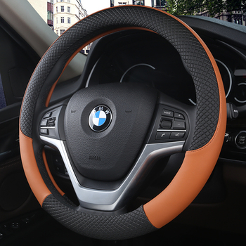 Car Steering-wheel Cover Car-styling Anti-catch Holder Protor Sport Auto Steering Wheel Covers Anti-Slip PU Leather