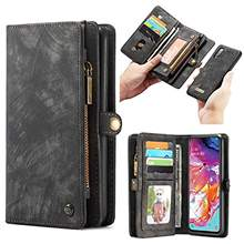 Luxury Multi-functional Zipper Wallet Leather Case for Samsung Galaxy A70 A50 A40 A20E A30 Cover Wallet Card Magnetic Phone Case(China)