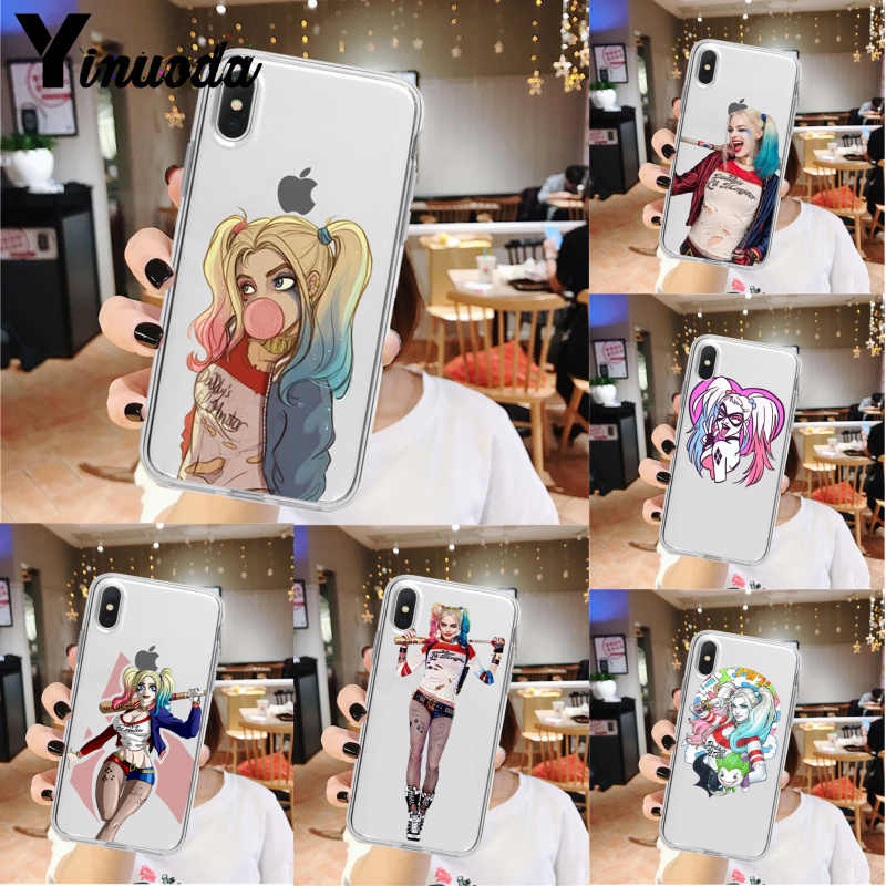 Yinuoda Harley Quinn Suicide Squad Joker Knipoog Patroon Mobiele Telefoon Case Voor Iphone 5 5Sx 6 7 7Plus 8 8Plus X Xs Max Xr 11 Pro Max