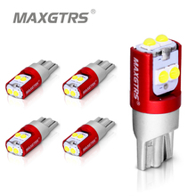 цена на 5x T10 LED W5W 5W Car Side Interior lights 12V Super Bright Bulb 3030 Chips Auto White Red Yellow 6000K Parking Marker Dome Lamp