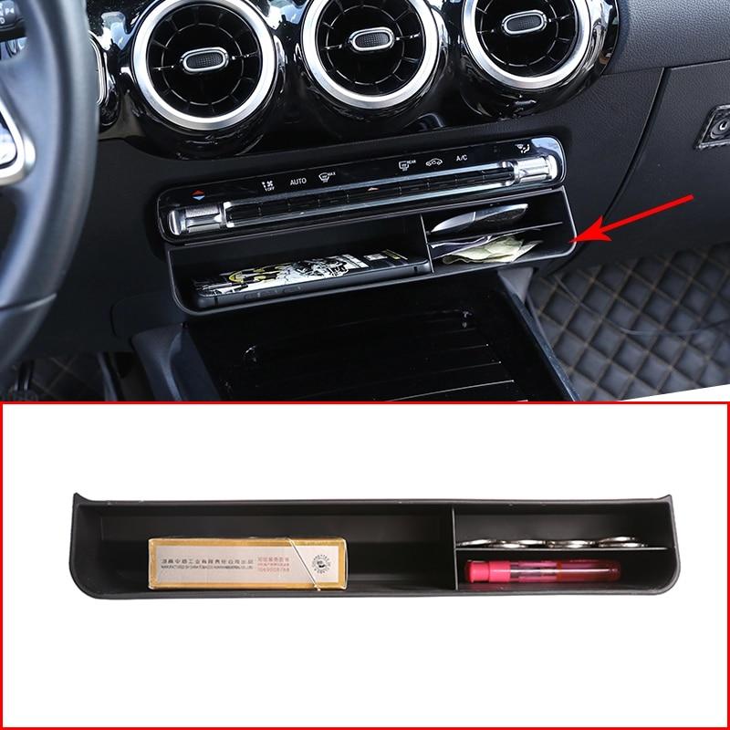 Araba merkezi kontrol saklama kutusu düzeltir telefon kartı tutucu kapak kiti Mercedes Benz B GLB GLE GLS sınıfı W247 X247 W167 X167 2020