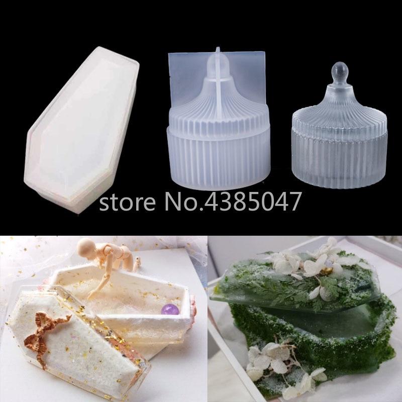 DIY Storage Box UV Resin Jewelry Tools Dried Flower Molds Handmade Pendant Jewelry Tool