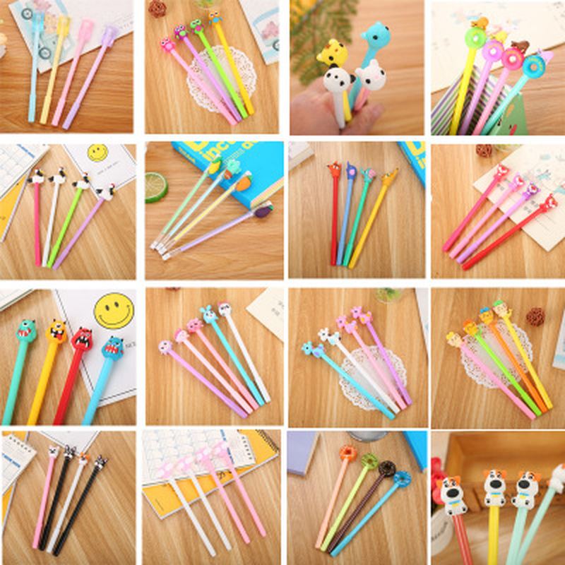Unicorn Gel Pens Kawaii Stationery 0.5mm Gel Pen Novelty Cartoon Cute Pen Student Black Signature Pen Stationery School Supplies