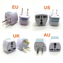 10PCS Universal US UK AU To EU Plug USA Euro Europe Travel Wall AC Power Charger Outlet Adapter Converter Socket