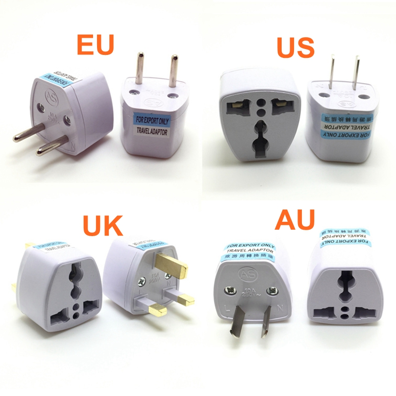 Universal US UK AU To EU Plug USA To Euro Europe Travel Wall AC Power Charger Outlet Adapter Converter Socket
