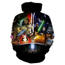 Sweatshirt Hoodie Print Fashion Men 3d Anime Hero Hip Hop Full Regular O-neck Champion Star Wars Letter Hipster Sportsuit Is(China)