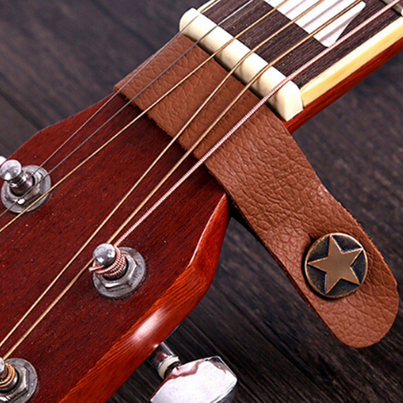 20.5cm Classic Guitar Bass Leather Guitar Strap Holder Button Stringed Instruments Safe Lock For Acoustic Electric