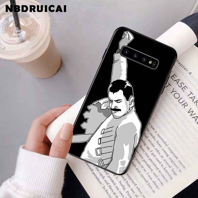 Nbdrucai 프레디 머큐리 퀸 밴드 삼성 S9 플러스 S5 S6 가장자리 플러스 S7 가장자리 S8 플러스 S10 E S10 플러스에 대 한 고품질 전화 케이스