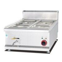 Eh-684 4 Potten Rvs Bench-Top Elektrische Thermische Soeppan