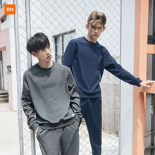 Xiaomi Mijia UREVO Life Men Fleece Round Neck Sweater Classic Versatile Soft and To The Touch for Autumn