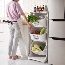 Kitchen vegetable storage basket rack plastic oversize living room wheeled laundry