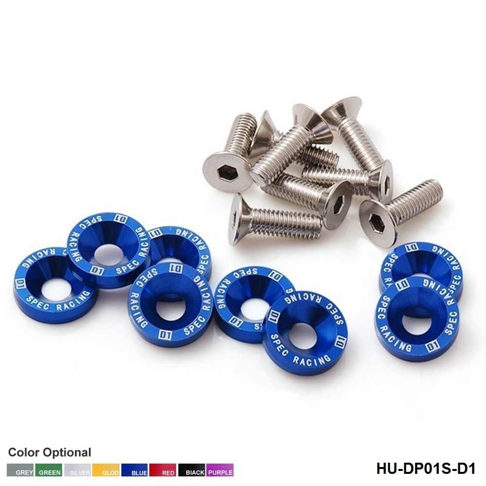 D1 Spec 8 adet M6 x 20 farlar tamponlar çamurluk yıkayıcılar seti cıvata vidalı motor HONDA HU-DP01S-D1