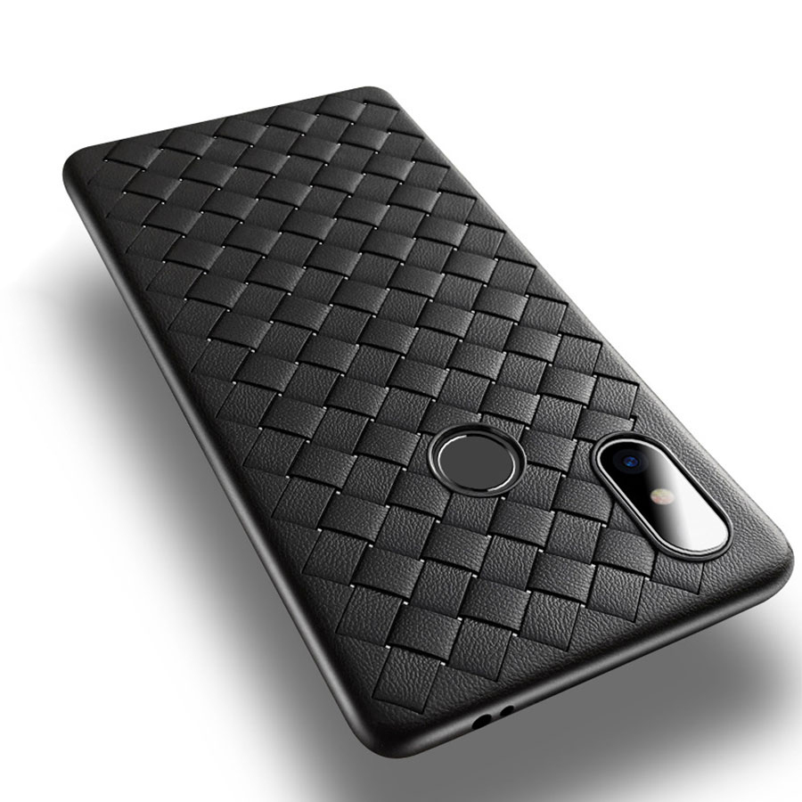 Luxury Weave Case For iPhone 11 Pro Max Xs X XR 7 8 Plus Case Xiaomi Mi 8 9 SE A3 Redmi Note 6 7 8 Pro Cover Soft Silicone Cases(China)