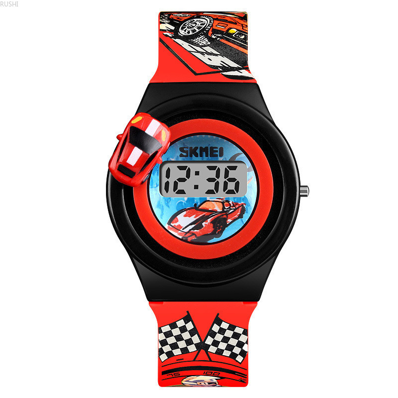 wrist watch children automobile toy electronic engineering surface boy woman elementary school students cartoon tide watches