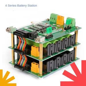 Diy 16.8v soldade-livre 4-string 18650 bateria de lítio sistema de gestão bms bateria caixa