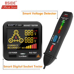 BSIDE AVD07 Smart Voltage Detector Pen Auto/Manual Mode Adjustable Sensitivity Dual Range Non-contact AC Volt Tester Live Wire