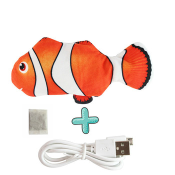 Moving Fish Cat Toy Electronic Flopping Cat Kicker Fish Toy Catnip Fish Toys for Cats Pet Supplies Funny Chew Toy for Indoor Cat 18