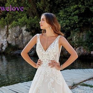 Image 3 - Robe de mariee New arrival 2020 New Summer Beach Wedding Dress with Straps White Open Back Wedding Dresses Vestige De Noiva