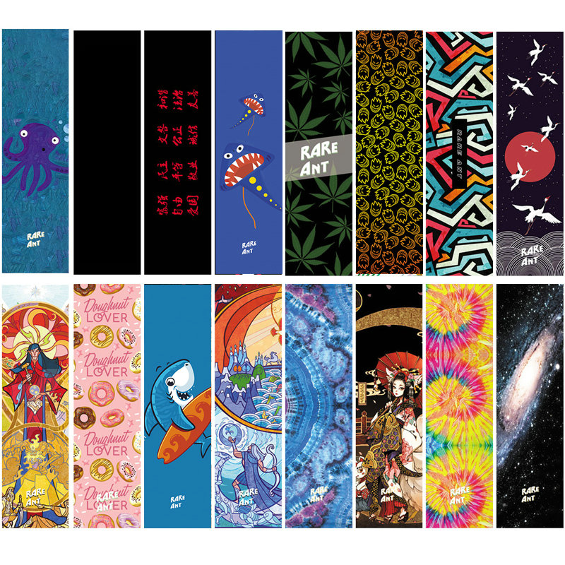 New Professional Skateboard Grip Tape 84*23cm Multi Graphic Griptapes For Scooter Sandpaper Skate Deck Grips Stickers Drop Ship