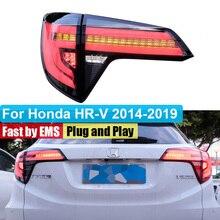 Car Styling Dynamic Turn Signal LED Tail Lights For Honda HRV HR-V 2014 2015 2016 ~ 2019 Taillight Rear Lamp Drive+Brake+Signal стоимость