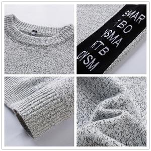 Image 5 - SingleRoad 두꺼운 스웨터 남자 2019 겨울 양모 옷 니트 풀오버 캐시미어 스웨터 남성 느슨한 패션 점퍼 고품질