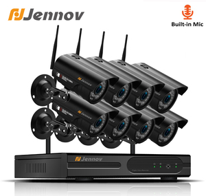 Image 1 - Jennov 8CH 1080P Wireless Wifi Home Security Camera System Outdoor CCTV Set Video Surveillance Kit IP Camera Wi fi 2MP Aduio Cam