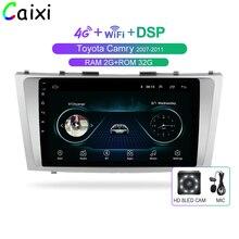 Автомобиль Xi 2din 9 дюймов 2.5D Android 8,1 Автомобильный DVD Радио мультимедийный плеер для Toyota Camry 2007 2008 2009 2010 2011 Навигация gps